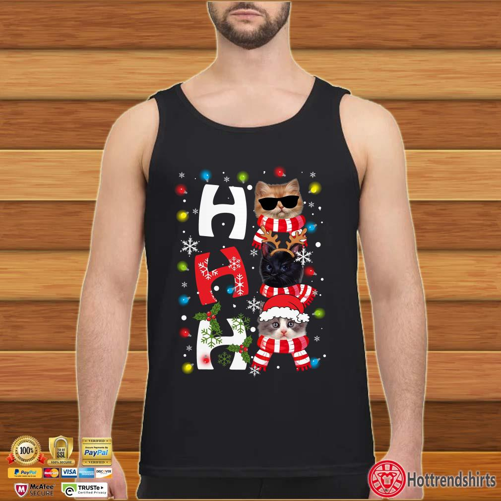 Cats Ho Ho Ho Kight Christmas Shirt