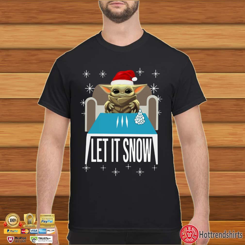 Cocaine Yoda Santa Let It Snow Shirt