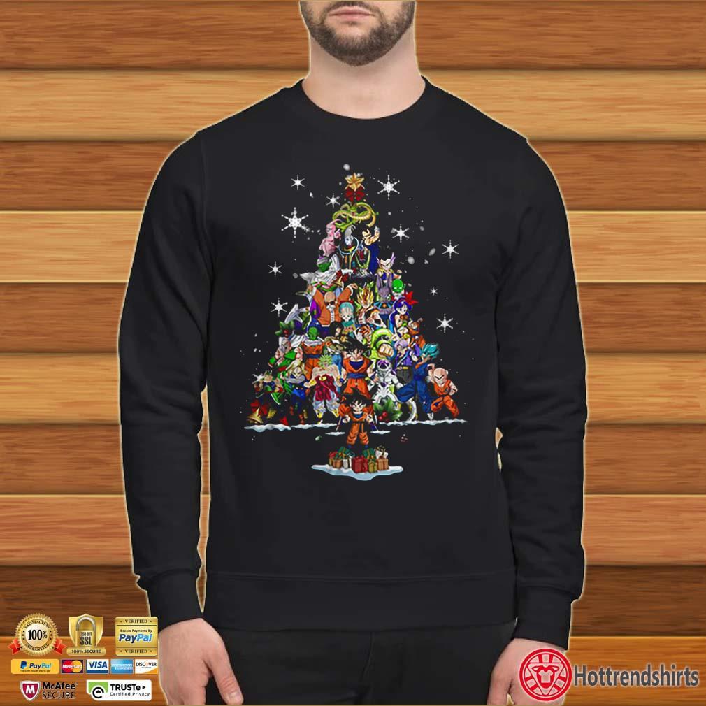Dragon Ball characters Christmas tree Shirt