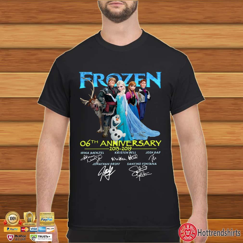Frozen 06th Anniversary 201 2019 Signatures Shirt