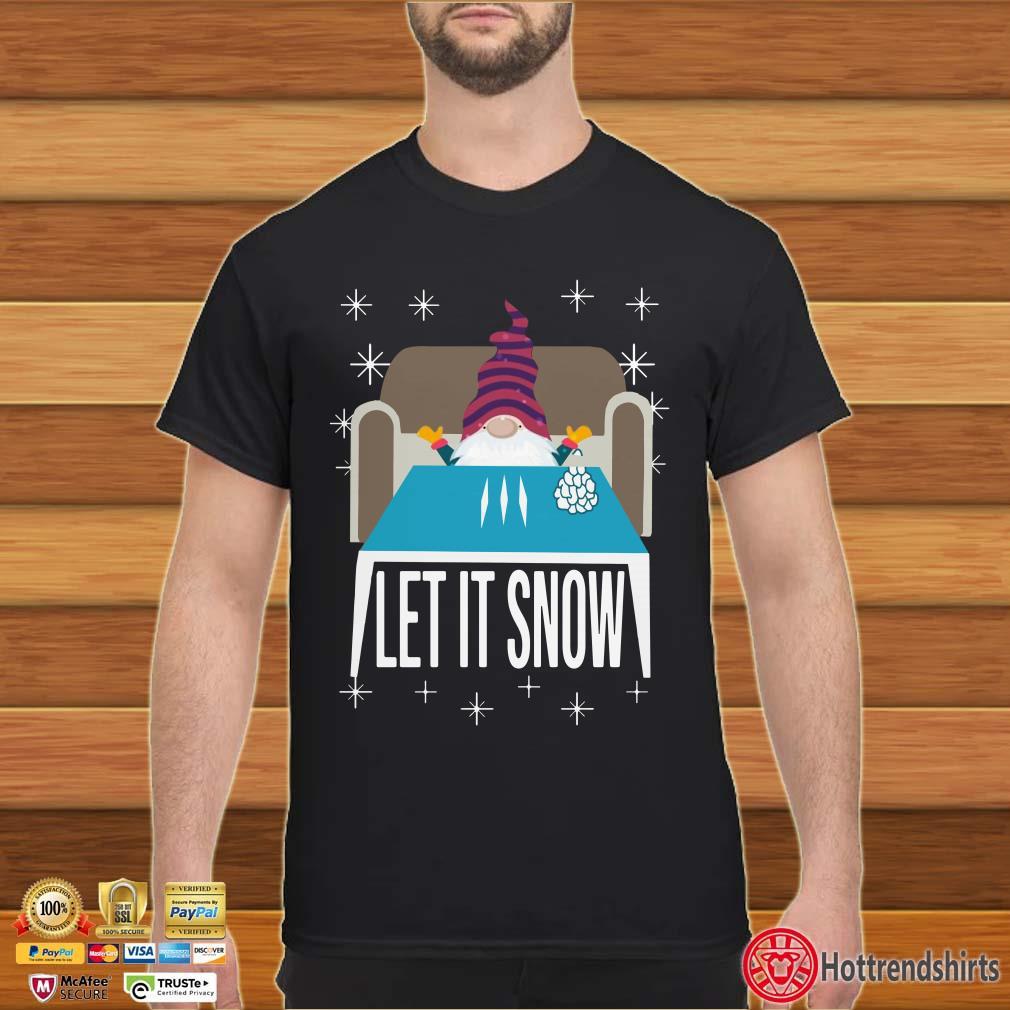 Gnomes Walmart Cocaine Santa Let It Snow Christmas Shirt