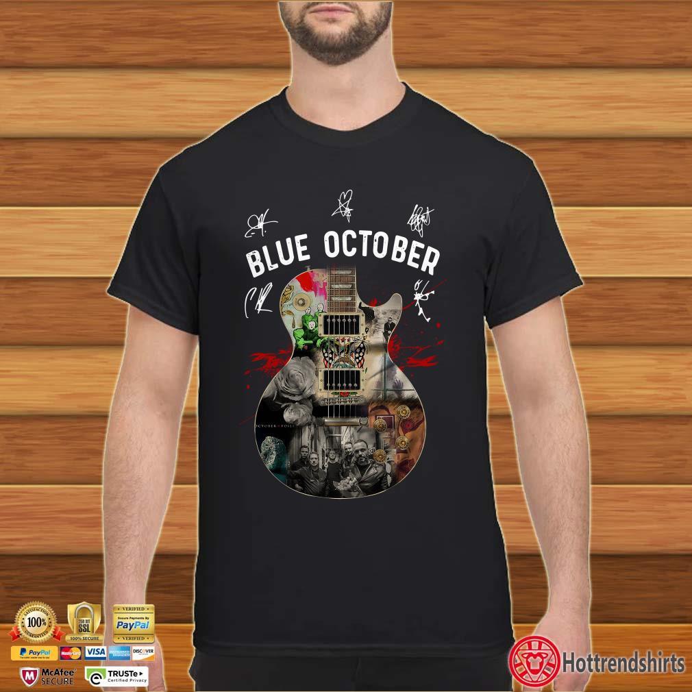 Guitar Blue October Signatures Shirt