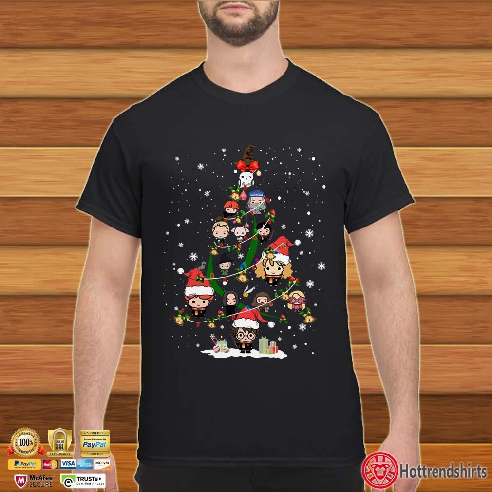 Harry Potter Christmas Tree Merry Xmas Shirt