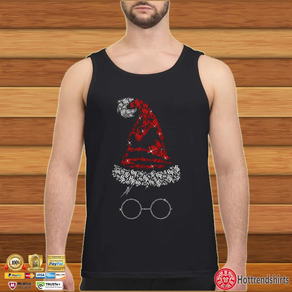 Hot Harry Potter hat santa Christmas diamond shirt