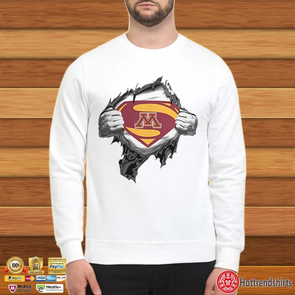 Minnesota Golden Gopher inside me Superman logo shirt