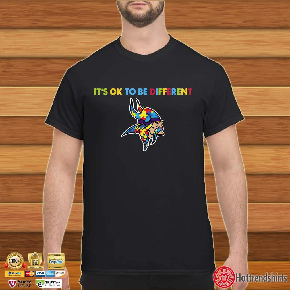 Minnesota Vikings Autism It's OK to be Different Shirt