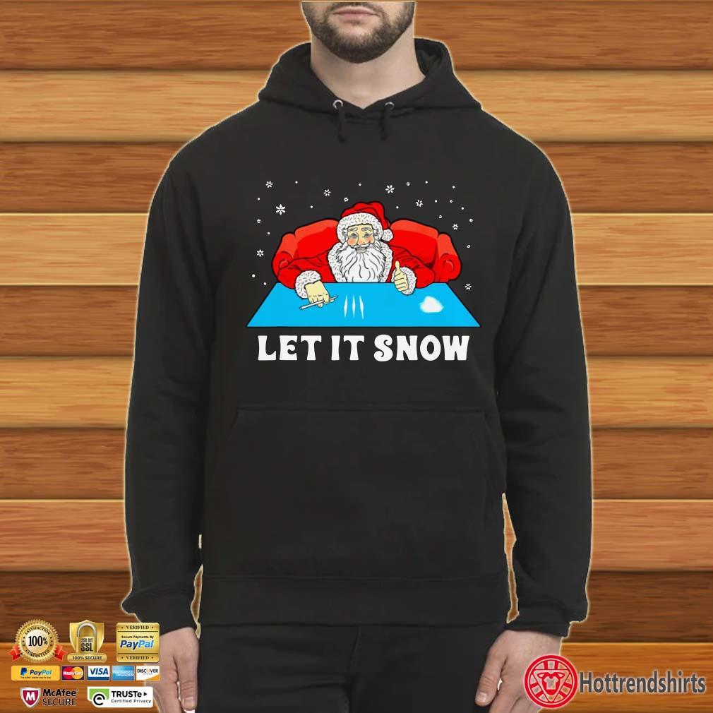 Official Cocaine Santa Let It Snow Christmas Shirt