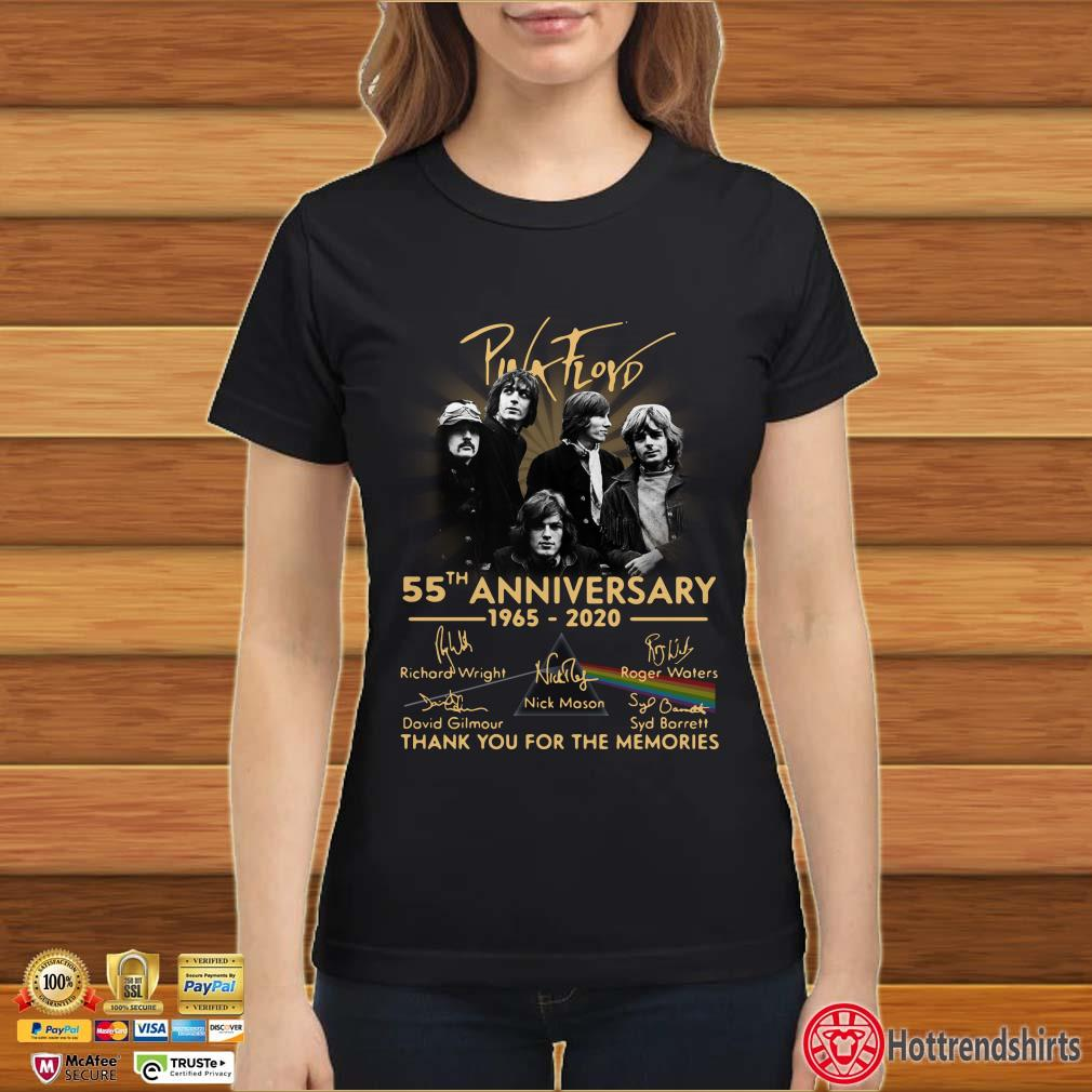 Pink Floyd 55th Anniversary 1965-2020 thank you for the memories signatures shirt