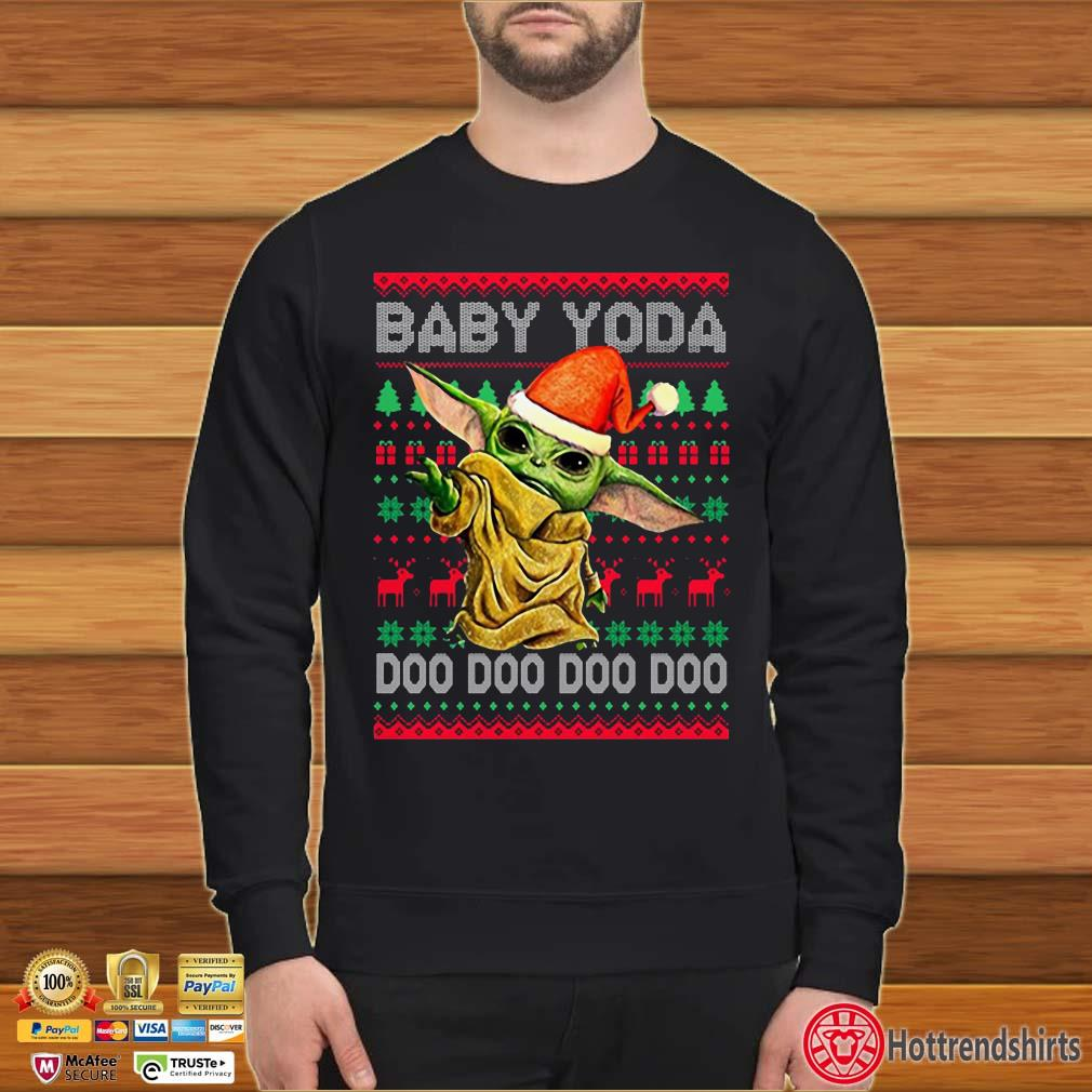 Santa Baby Yoda Doo Doo Doo Ugly Christmas Shirt