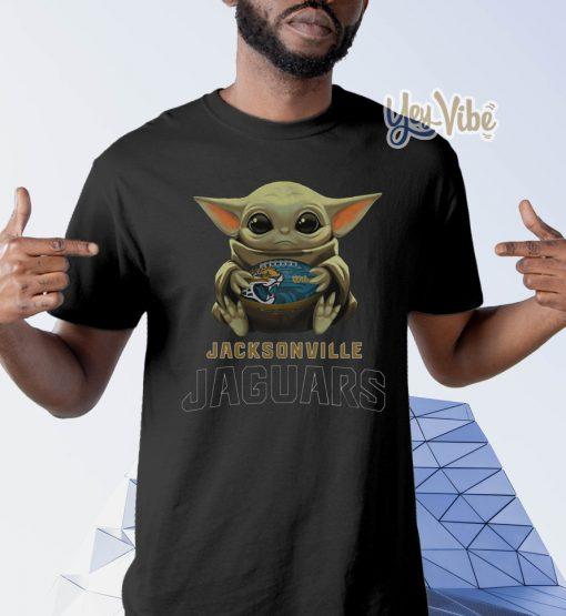 Baby Yoda Hug Jacksonville Jaguars Shirt