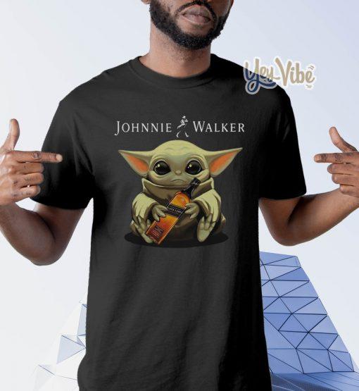 Baby Yoda hug Jim Beam Whiskey shirt