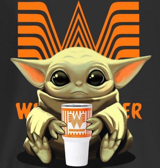Baby Yoda hug Whataburger shirts
