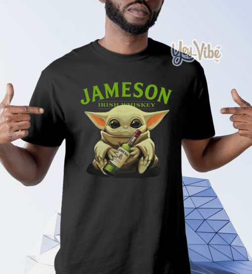 Baby Yoda Jameson Irish whiskey t shirts