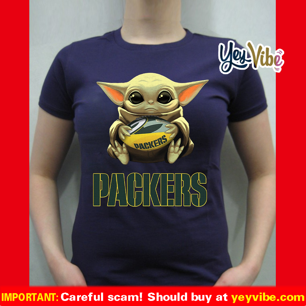 Green Bay Packers Baby Yoda Hug Shirt Hottrendshirts