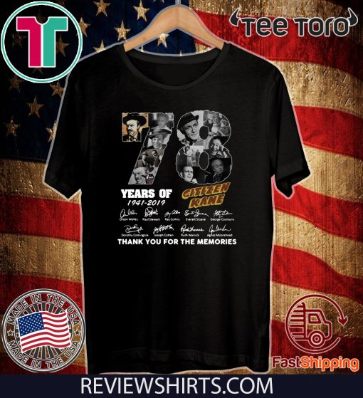 78 Years Citizen Kane Thank You For The Memories Official T-Shirt