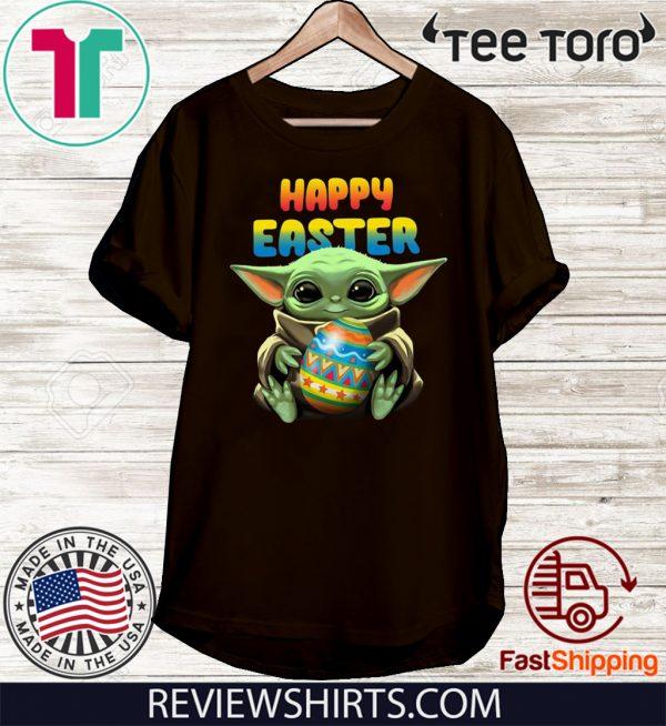 Baby Yoda hug Happy Easter 2020 T-Shirt