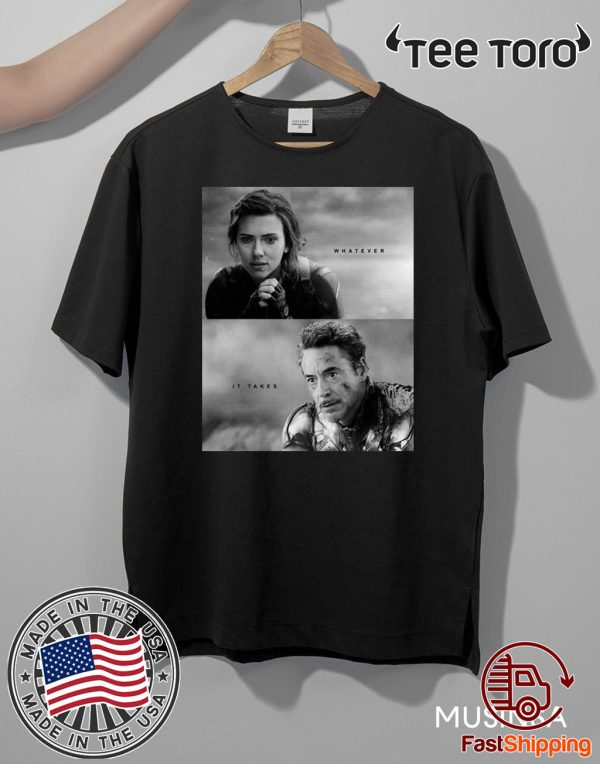 Black Widow And Iron Man Whatever It Takes Official T-Shirt
