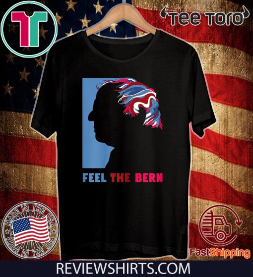 Vintage Distressed Feel The Bern 2020 President Graphic Hot T-Shirt