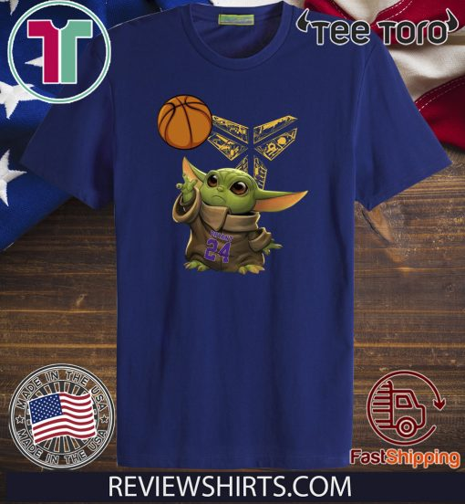 Kobe Bryant Baby Yoda Black Mamba Basketball Shirts