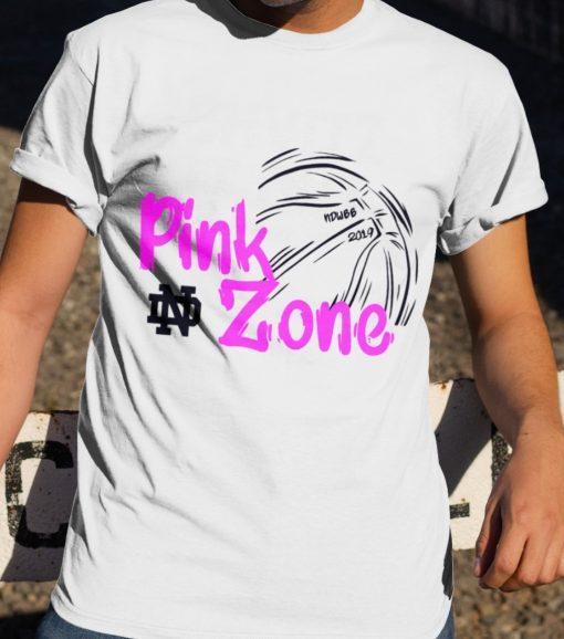PINK ZONE CUSTOMIZED WARM-UP T SHIRT