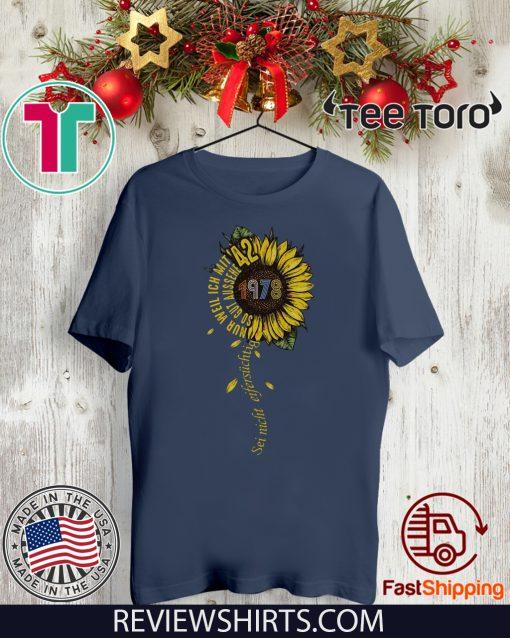 Sei nicht eifersüchtig 1978 Sunflower Tee Shirt