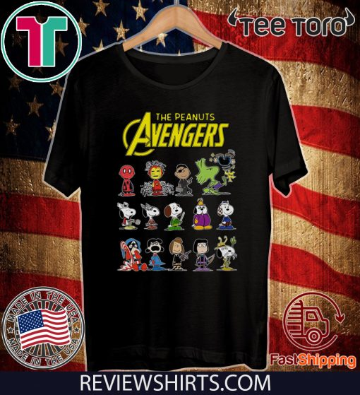 The Peanuts Avengers Characters Official T-Shirt