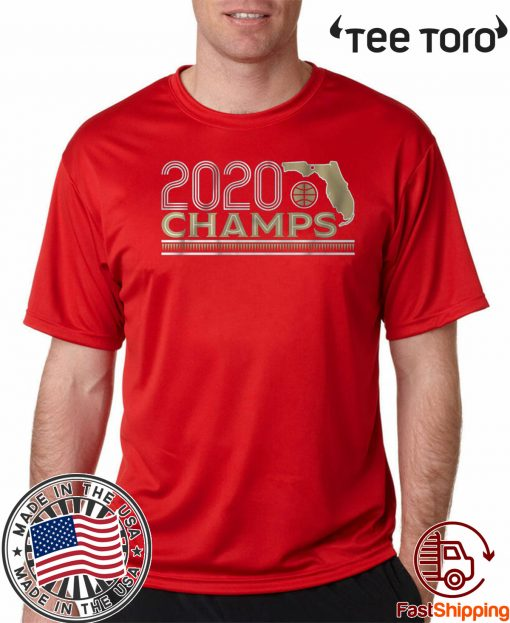 2020 National Champs Tallahassee Basketball Official T-Shirt