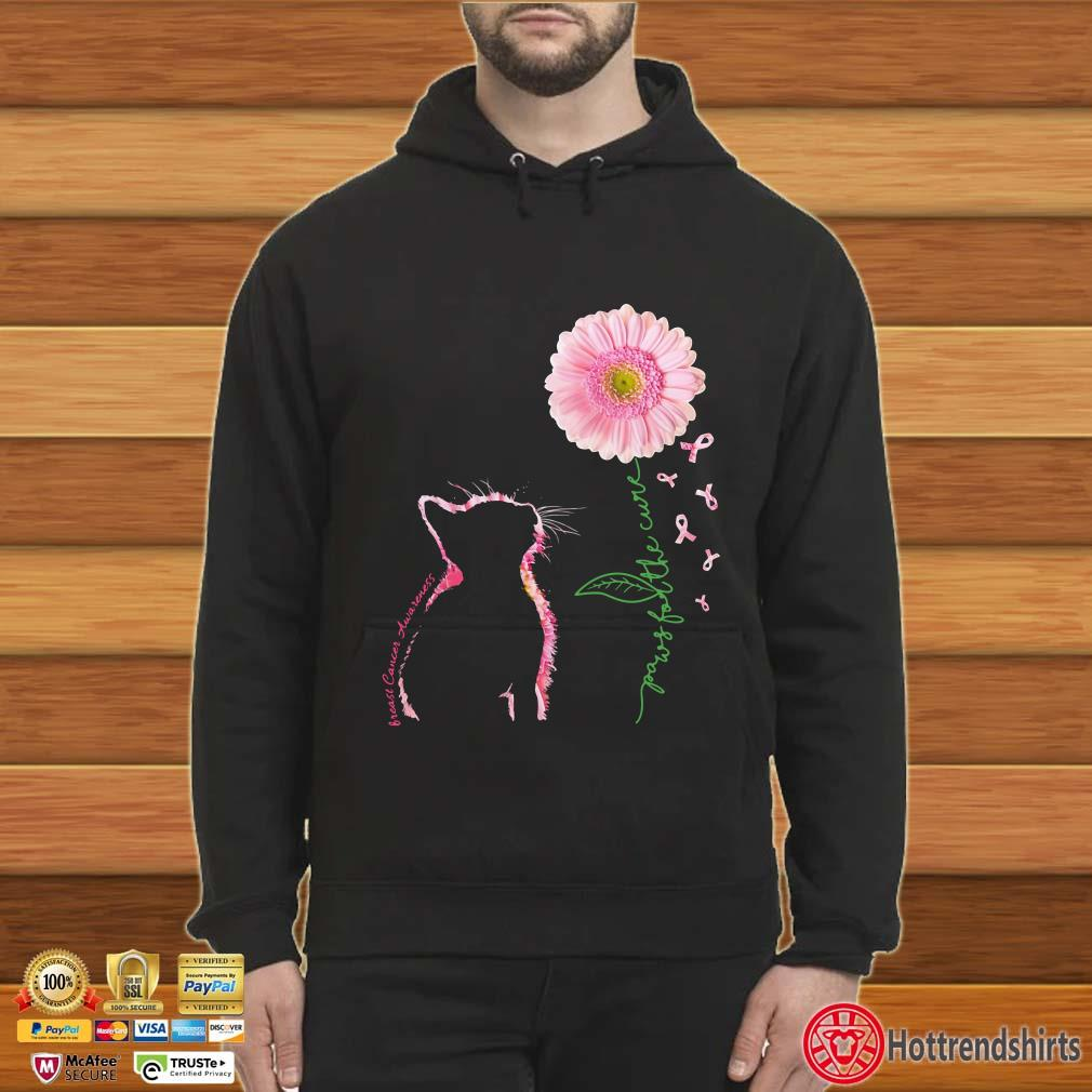 I Heart Love Pink Ribbon Breast Cancer Cure Awareness Hoodie Pullover Sweatshirt