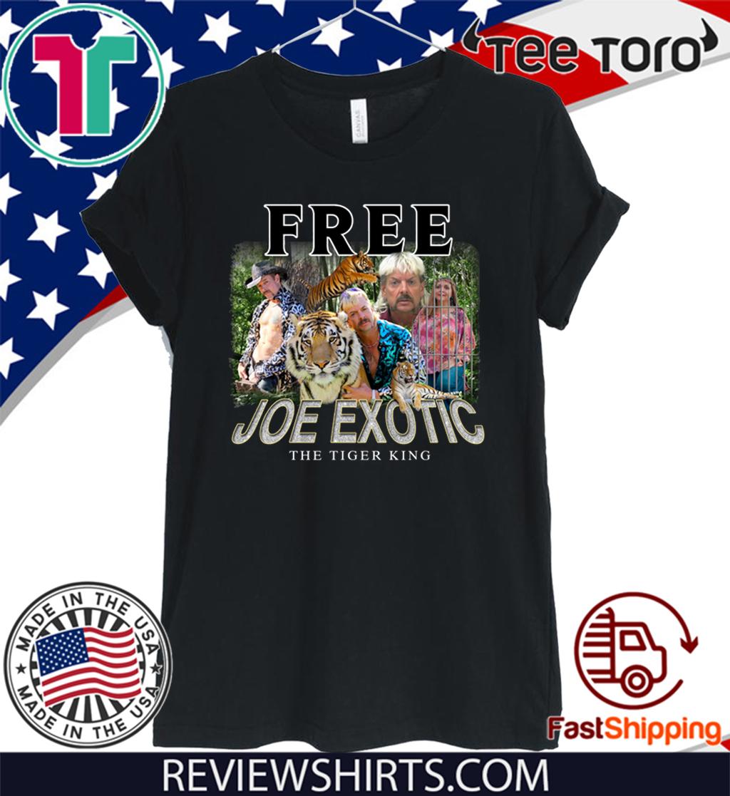 Free Joe Exotic The Tiger King Shirt carole baskin
