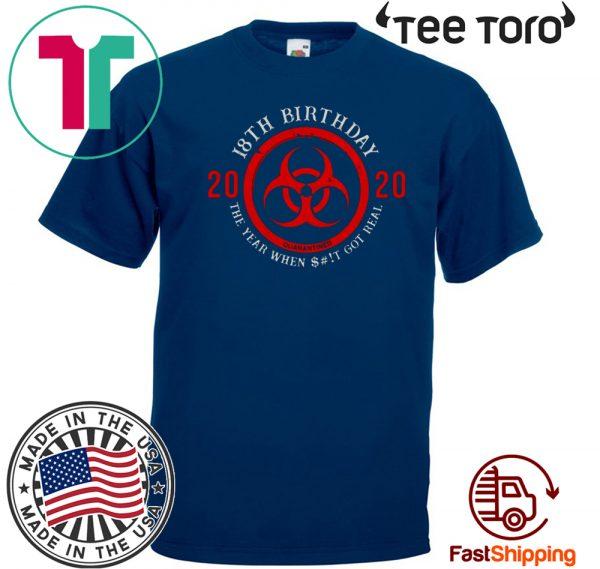 18th Birthday 2020 Quarantine Tee Shirt