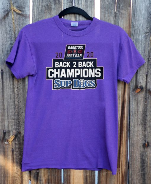 2020 CHAMPIONS BACK 2 BACK SUP DOGS OFFICIAL T-SHIRT