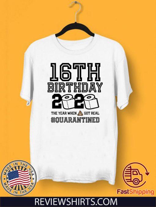 16th Birthday Quarantined 2020 T-Shirt