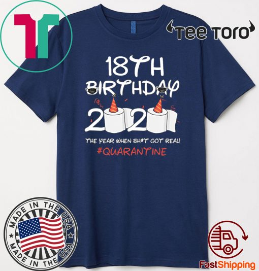 18th Birthday 2020 #Quarantine Shirt - Toilet Paper 18th Birthday T-Shirt