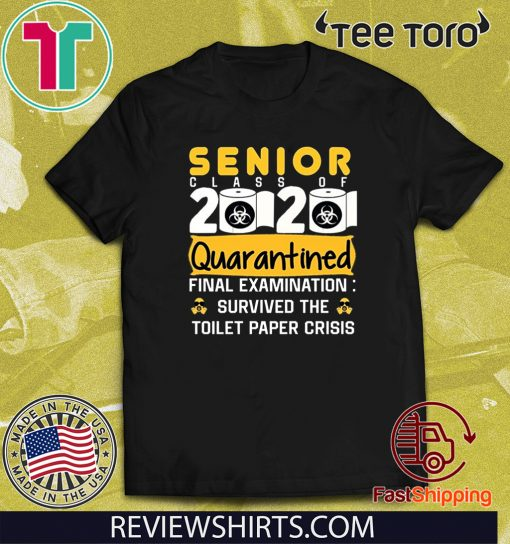 Class of 2020 Quarantined Seniors Quarantined The One Where They were 2020 T-Shirts