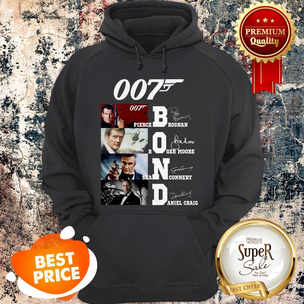 007 James Bond Pierce Brosnan Roger Moore Sean Connery Signature Hoodie