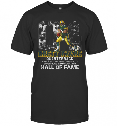 04 Brett Favre Quarterback Green Bay Packers 1992 2007 Super Bowl Champion Hall Of Fame T-Shirt Classic Men's T-shirt