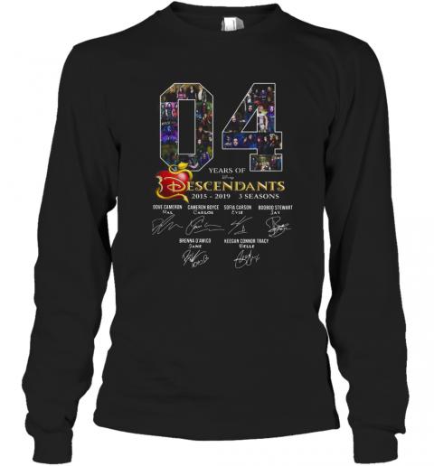 04 Years Of Descendants 2015 2019 3 Seasons Signature T-Shirt Long Sleeved T-shirt
