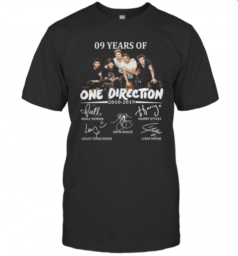 09 Years Of One Direction 2010 2019 Signatures T-Shirt Classic Men's T-shirt