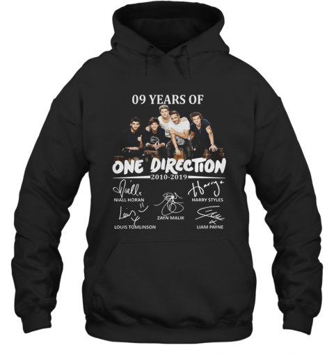 09 Years Of One Direction 2010 2019 Signatures T-Shirt Unisex Hoodie