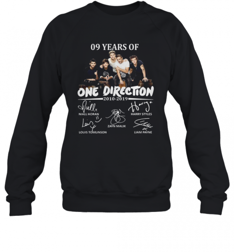 09 Years Of One Direction 2010 2019 Signatures T-Shirt Unisex Sweatshirt