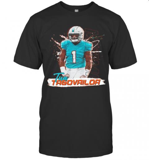 1 Tua Tagovailoa Miami Dolphins Football T-Shirt Classic Men's T-shirt
