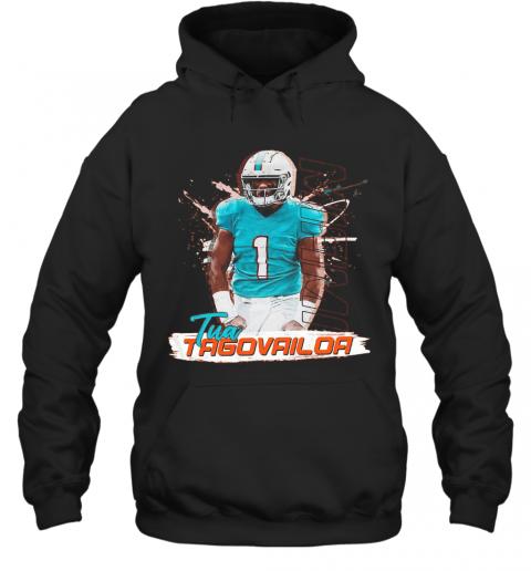 1 Tua Tagovailoa Miami Dolphins Football T-Shirt Unisex Hoodie