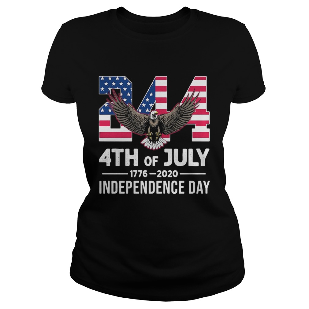 244 4th Of July 1776 2020 Independence Day Bald Eagle  Classic Ladies