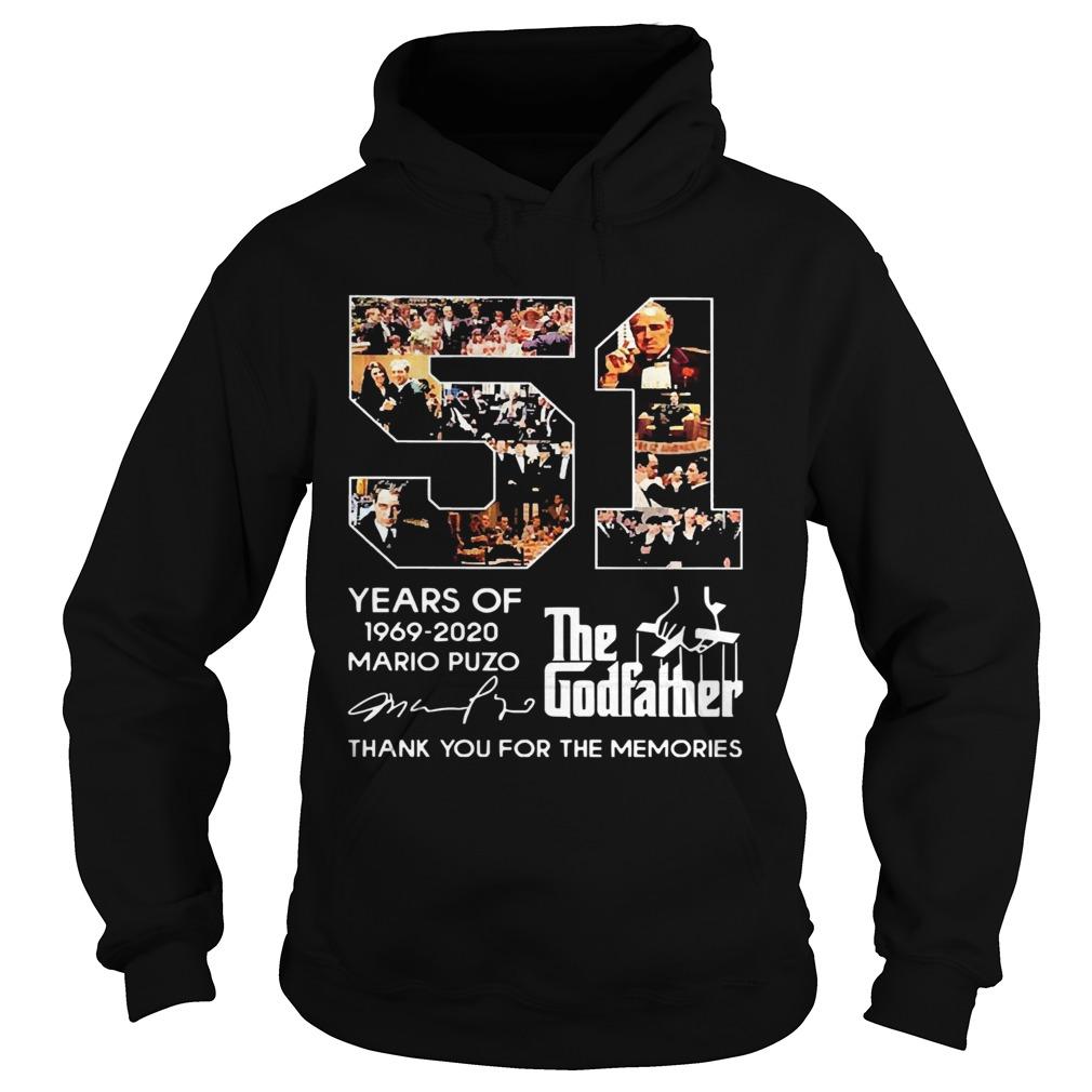 51 Years Of The Godfather 19692020 Mario Puzo Signature  Hoodie