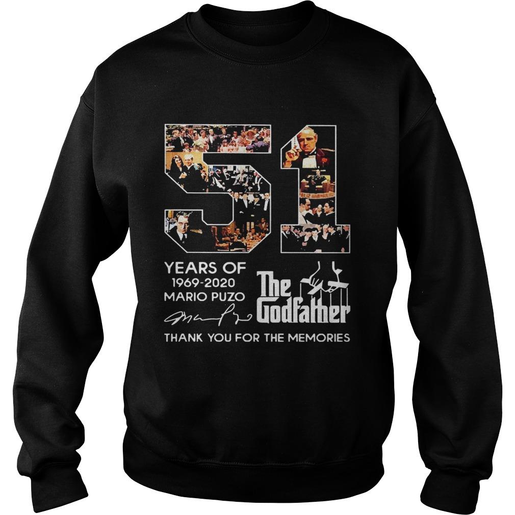 51 Years Of The Godfather 19692020 Mario Puzo Signature  Sweatshirt