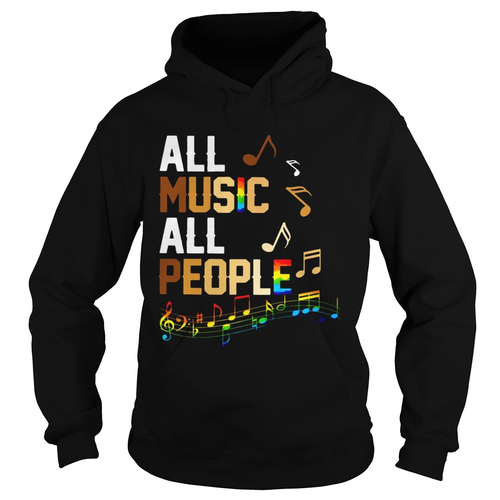 Black Lives Matter All Music All People  Hoodie