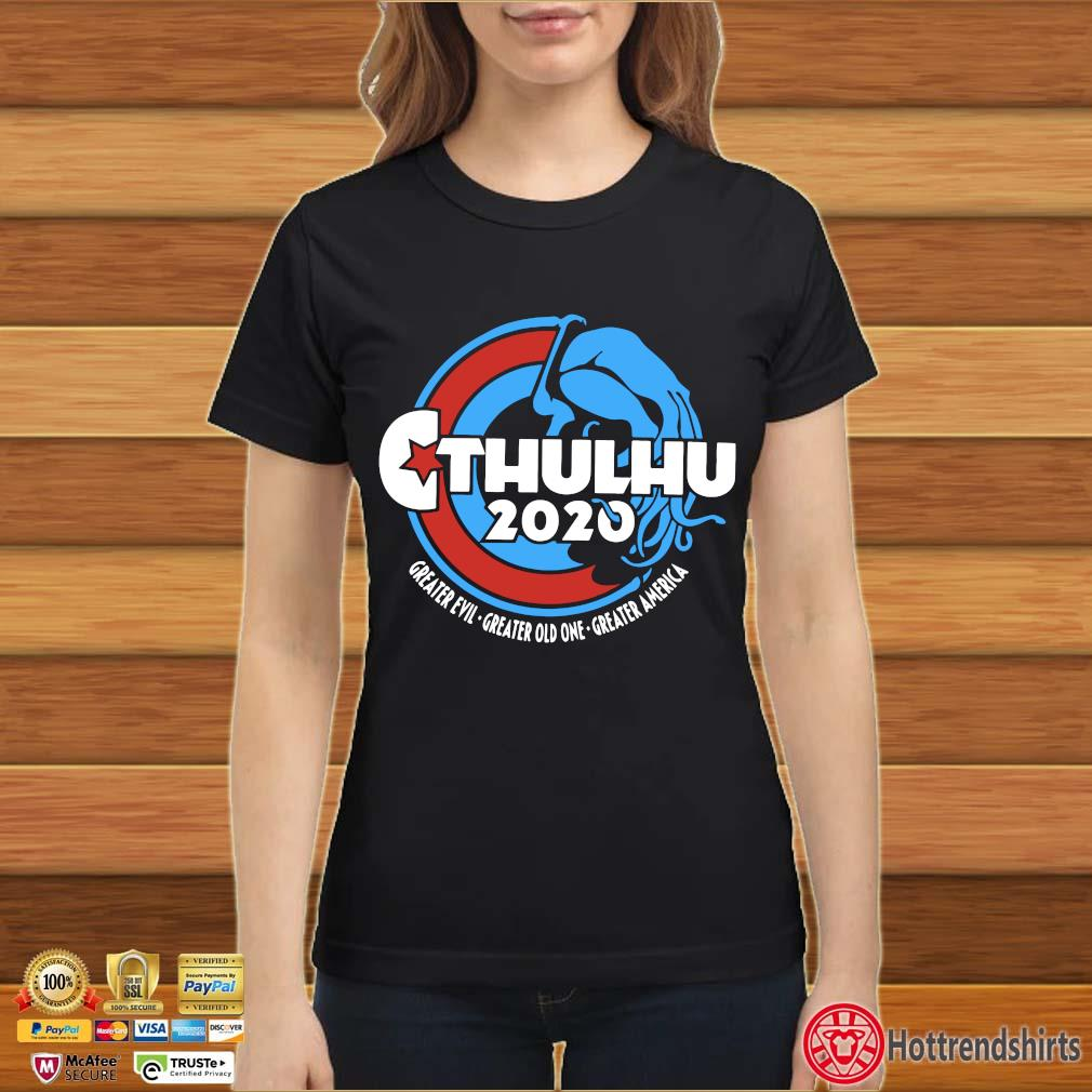Cthulhu For President 2020 T Shirt Ladies đen