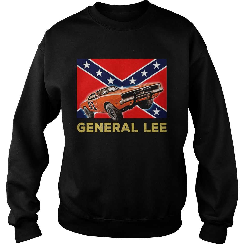 General Lee Dixieland Flag  Sweatshirt