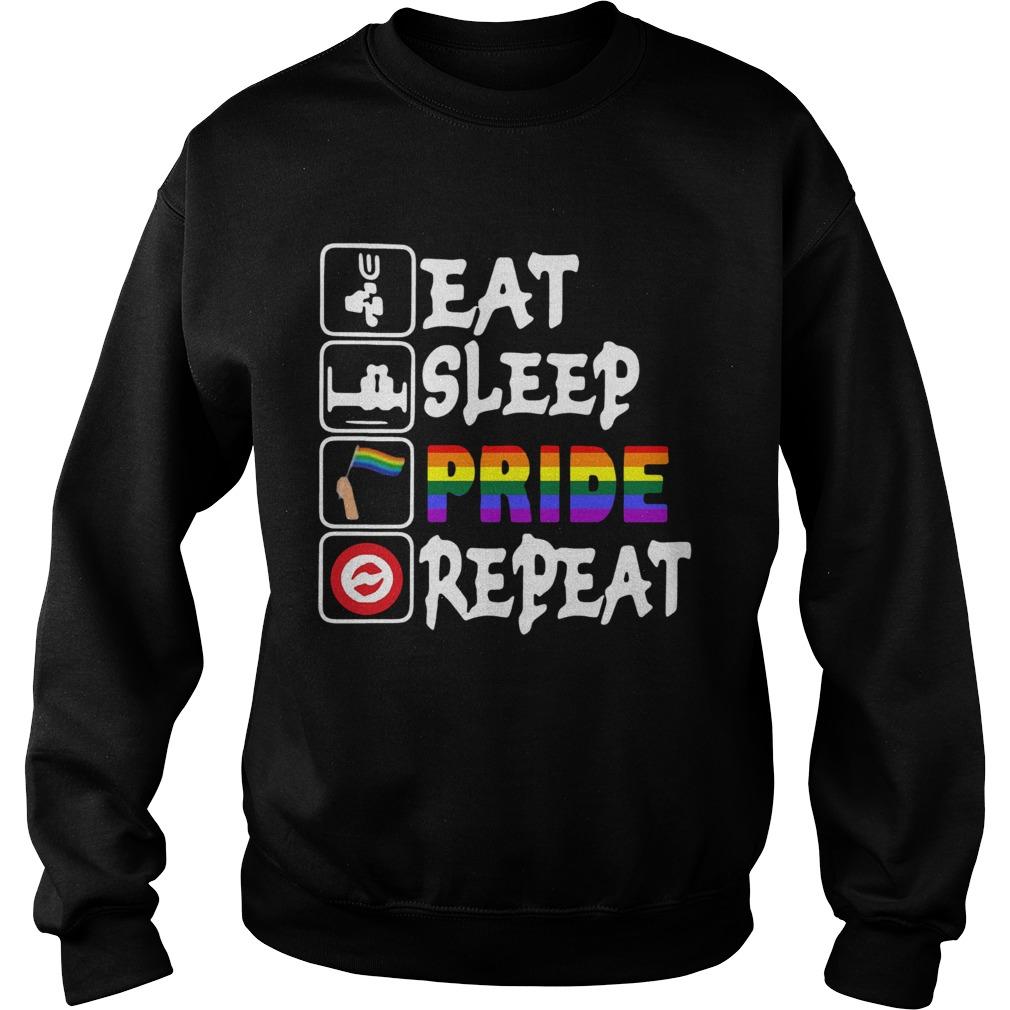 LGBT Eat Sleep Pride Repeat  Sweatshirt