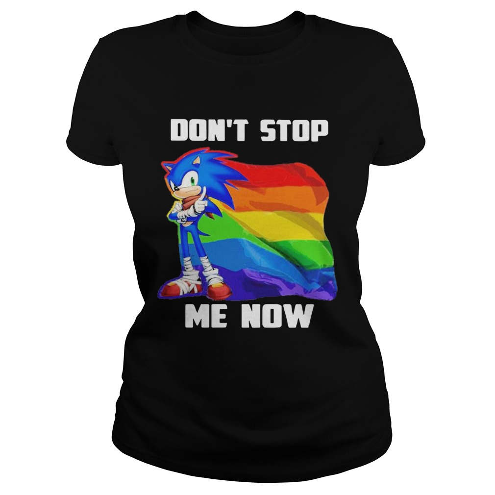 LGBT Sonic Dont Stop Me Now Flag  Classic Ladies